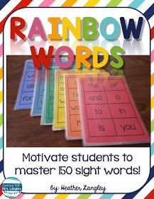 Rainbow Words  have been a fun addition to our classroom this spring.  I made these sets as a request from our 1st grade teachers to get stu...