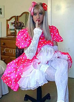 He likes petticoats and ruffles and pink. More