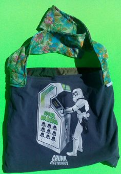 Space Invaders + Darth Vader =Space Vaders Tote by handbags, art, paintings,side bags, upcycled, fashion, barbie