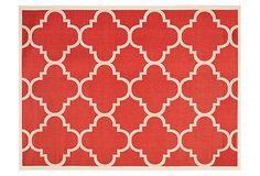 Steffen Outdoor Rug, Red | Auto Exposure Event | One Kings Lane