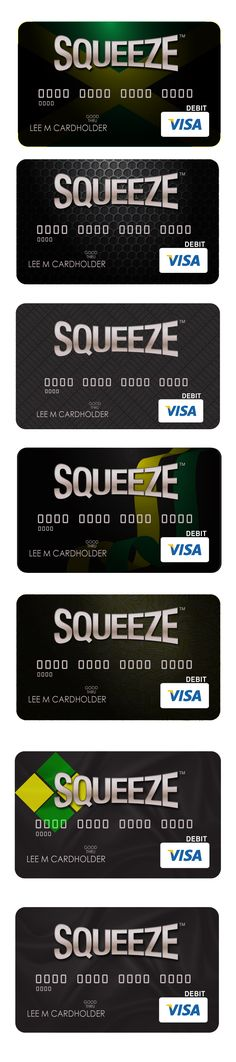 Squeeze Credit Card Concepts
