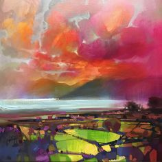 Scott Naismith is a Scottish landscape artist painting in an abstract style. Discover many artworks by Scott for sale on our Wychwood Art website including the featured image: 'Red Skies.'