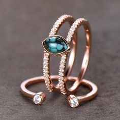 This is a beautiful Turquoise engagement ring,wedding ring SET in 925 sterling silver. Main Stone:4x6mm marquise cut natural turquoise, cz man made diamond side stones This ring is marked 925 All the jewelry in my store is handmade.It may take 5-7 weeks to finish. I accept custom making #weddingring