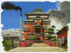 Living Lines Library: 千と千尋の神隠し / Spirited Away (2001) - Background Concepts