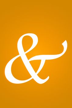 Ampersand in orange. Maybe use coral?  I likey.