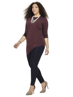 Genevette Top In French Burgundy byUniversal Standard Available in sizes XS-XL