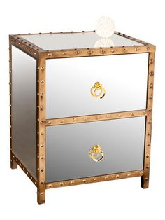 "Bradley Nightstand by Statements by J at Gilt 19"" W x 16½"" D x 24"" H $299"