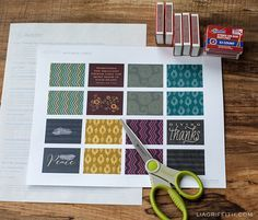 Decorate Your Matchboxes with These Pretty Fall Printables
