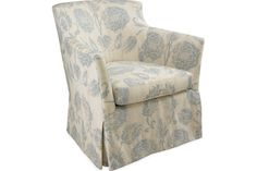1641-01SW SWIVEL CHAIR OVERALL W31D32H32 INSIDE W22D21H16  SEAT HT 18 ARM HT 25 BACK RAIL HT