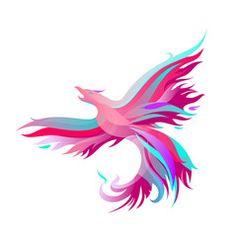 Fiery phoenix in bright colors vector Peacock Vector, Feather Vector, Texture Vector, Color Vector, Phoenix Vector, Phoenix Feather, Mystical Animals, Tattoo Templates, Phoenix Tattoo Design