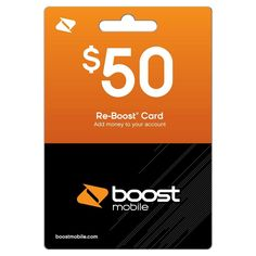 Boost Mobile $50 Prepaid Card (email delivery)                              …