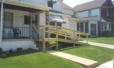 Below are some pictures of a basic pressure treated wooded wheelchair ramp installed in Coatesville, Chester County. Description from familymobility.com. I searched for this on bing.com/images