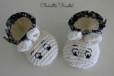 Chaussons Moomin by Clairette tricote