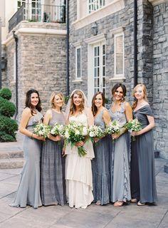 18 Adorable Photos That Prove the Best Bridesmaids Dresses Are Mismatched - Cosmopolitan.com