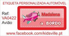 Etiquetas Automóvel Ref: VA0422 Avião Preço: 8,00€