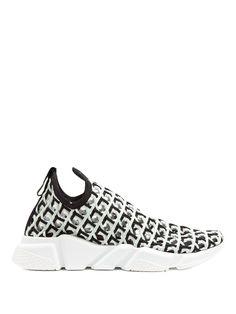 BALENCIAGA Speed Line Woven Slip-On Trainers. #balenciaga #shoes #sneakers