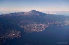 vista aérea del norte de Tenerife
