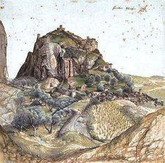 By Dürer - View of a castle in the Tyrol region