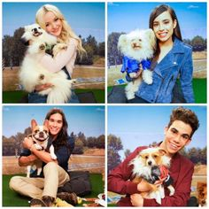 Dove Cameron Sofia Carson Booboo Stewart and Cameron Boyce with their puppies #Cuteness Overload
