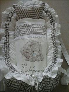 Babynest baby nest sovpöl kudde, täcke, nappficka, handtag hemsytt
