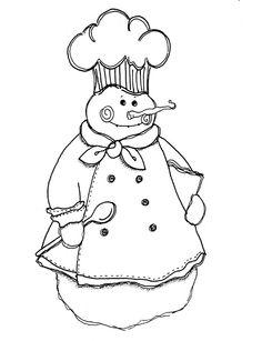 Large Snowman Template  Snowman  Paper Craft  Crafts
