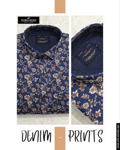 Casual Wear, Casual Shirts, Menswear, Shirt Dress, Denim, Prints, Mens Tops, How To Wear, Fashion