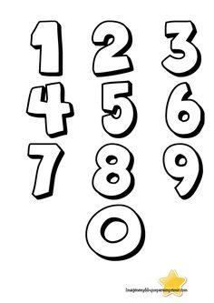 numeros para colorear del 1 al 10 - Buscar con Google