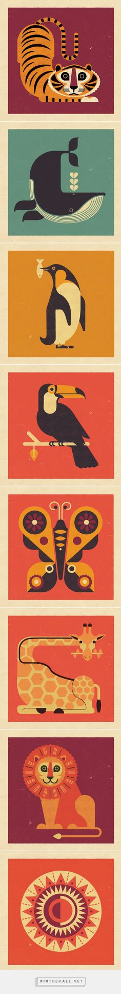 Telegramme Paper Co. Wildlife Collection on Behance - created via https://pinthemall.net