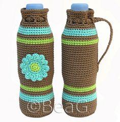 Crocheted Bottle Cozies....cute idea