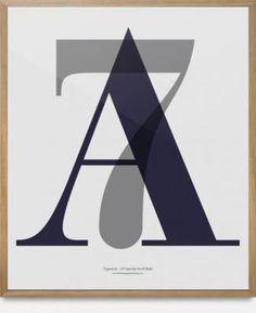 Stilren og markant plakat fra Playtype. 70 cm., 60 cm.  Materiale: Kraftigt plakatpapir  250,-