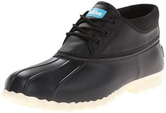 Native Men's Jimmy Mid Rain Shoe, Jiffy Black, 8 M US *** You can find out more details at the link of the image.