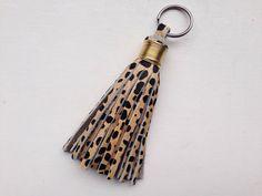 Cheetah Print Tassel Keychain
