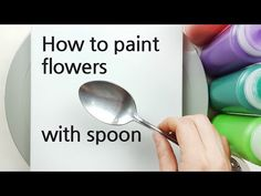 Acrylic Tutorials, Canvas Painting Tutorials, Watercolor Painting Techniques, Painting Lessons, Diy Painting, Pour Painting, Abstract Flower Art, Acrylic Painting Flowers, Acrylic Pouring Art