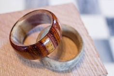 Handmade Cocobolo Wood Ring with Whitetail by TrinketsAndTinkering, $75.00 How To Make Rings, Wood Rings, Cocktail Rings, Making Ideas, Rings For Men, Wedding Rings, Engagement Rings, Awesome, Unique Jewelry