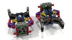 Pair of Lego Grabbers/ Grippers/ Claws (dluders) Tags: lego ldd lxf ev3 grabber gripper claw fll wro