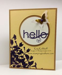 My Friend All Occasion Card with How To Video, Stamping to Share, Kay Kalthoff, Stampin' Up!, My Friend