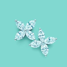 Marquise diamonds bloom like exquisite flowers in these exquisite Tiffany Victoria™ earrings. #TiffanyPinterest #TiffanyWeddings