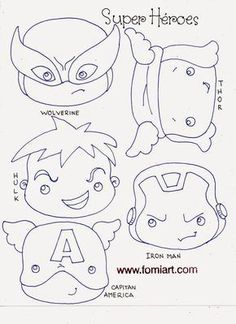 Super Hero Crafts For Preschoolers Ideas Felt Patterns, Craft Patterns, Stuffed Toys Patterns, Hero Crafts, Crafts For Seniors, Superhero Party, Felt Toys, Felt Ornaments, Felt Christmas