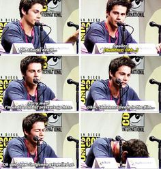 (Spoiler alert for those who havent read The Maze Runner) Poor Dylan! This stuff is hard and he gets so nervous he hates talking on film Maze Runner Thomas, Maze Runner Funny, Maze Runner The Scorch, Dylan O'brien, Teen Wolf, Maze Runner Trilogy, Maze Runner Series, James Dashner, Thomas Brodie Sangster