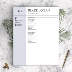 Resume Template For Mac Pages Creative Resume Template For Word And Pages  References Cover