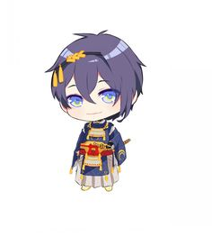 Touken Ranbu | TouRanbu | Mikazuki Munechika/Jiji | cute | adorable | chibi | gif