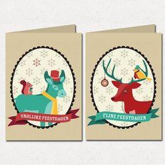 Mr. Animal Christmas cards