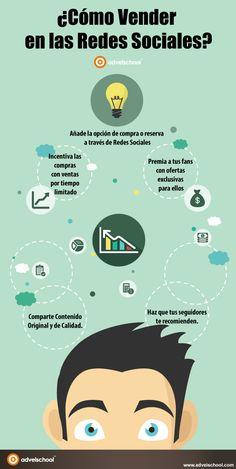 Hola: Una infografía sobre cómo Vender en las Redes Sociales. Vía Un saludo