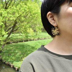 #golden #metal #earrings by #joidart