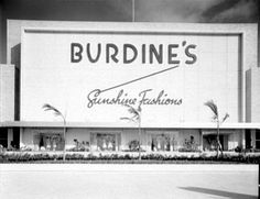 Burdine's was the most elegant store in Miami Beach in the 60's. It was a favorite destination for our family. We never bought anything...just looked and dreamed. My dreams came true when my brother and his bride took me shopping there and bought me a skirt and matching blouse!!