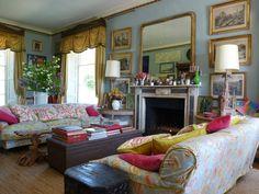 The Regency sitting room at Trematon Castle, Saltash, on the eastern edge of Cornwall Photo: bibleofbritishtaste