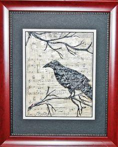 The Raven Raven, Vintage World Maps, Painting, Art, Art Background, Crow, Ravens, Painting Art, Kunst