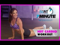 Quick and Sweaty HIIT Cardio Workout: 7 Minute Workout Series with Courtney Prather Plyometric Workout, Hip Workout, Workout Videos, Workout Tips, Workout Challenge, Circuit Training Workouts, Cardio Workouts, 7 Minute Workout, Hips Dips