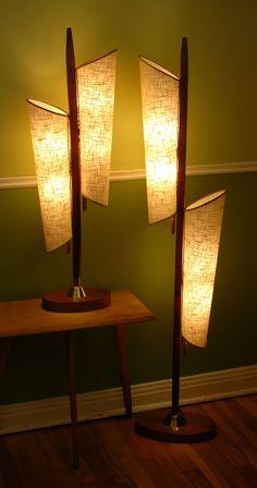 KILLER Vtg 1950s/60s Mcm SCULPTURAL Danish Mod TEAK Wood MAJESTIC Floor Lamp NM