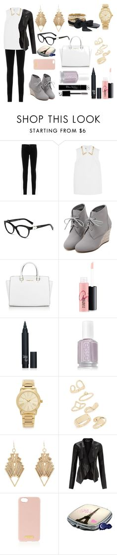 """""""Bez tytułu #599"""" by kereneza ❤ liked on Polyvore featuring AG Adriano Goldschmied, Miu Miu, WithChic, Michael Kors, MAC Cosmetics, Christian Dior, Topshop, Charlotte Russe, Miss Selfridge and Henri Bendel"""